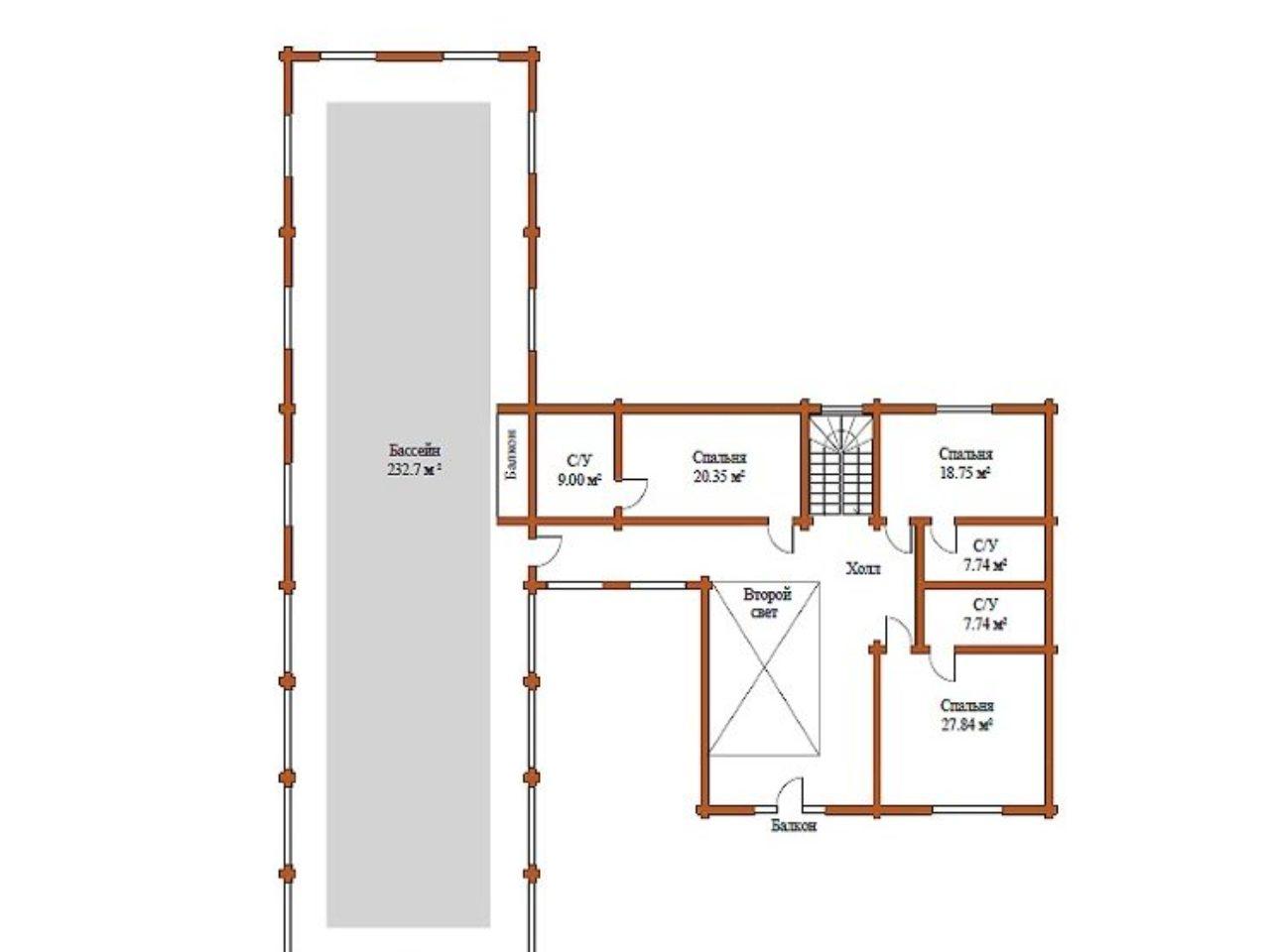 План 2 этажа проект