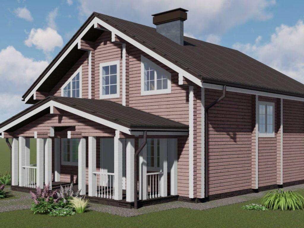 Дом из профилированного бруса проект