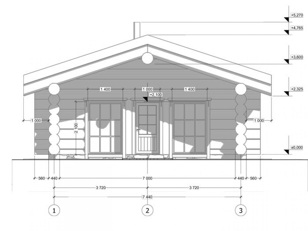 фасады баня из кедра