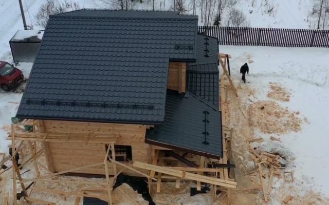 Строительство дома из клееного бруса проект «Хатунь»