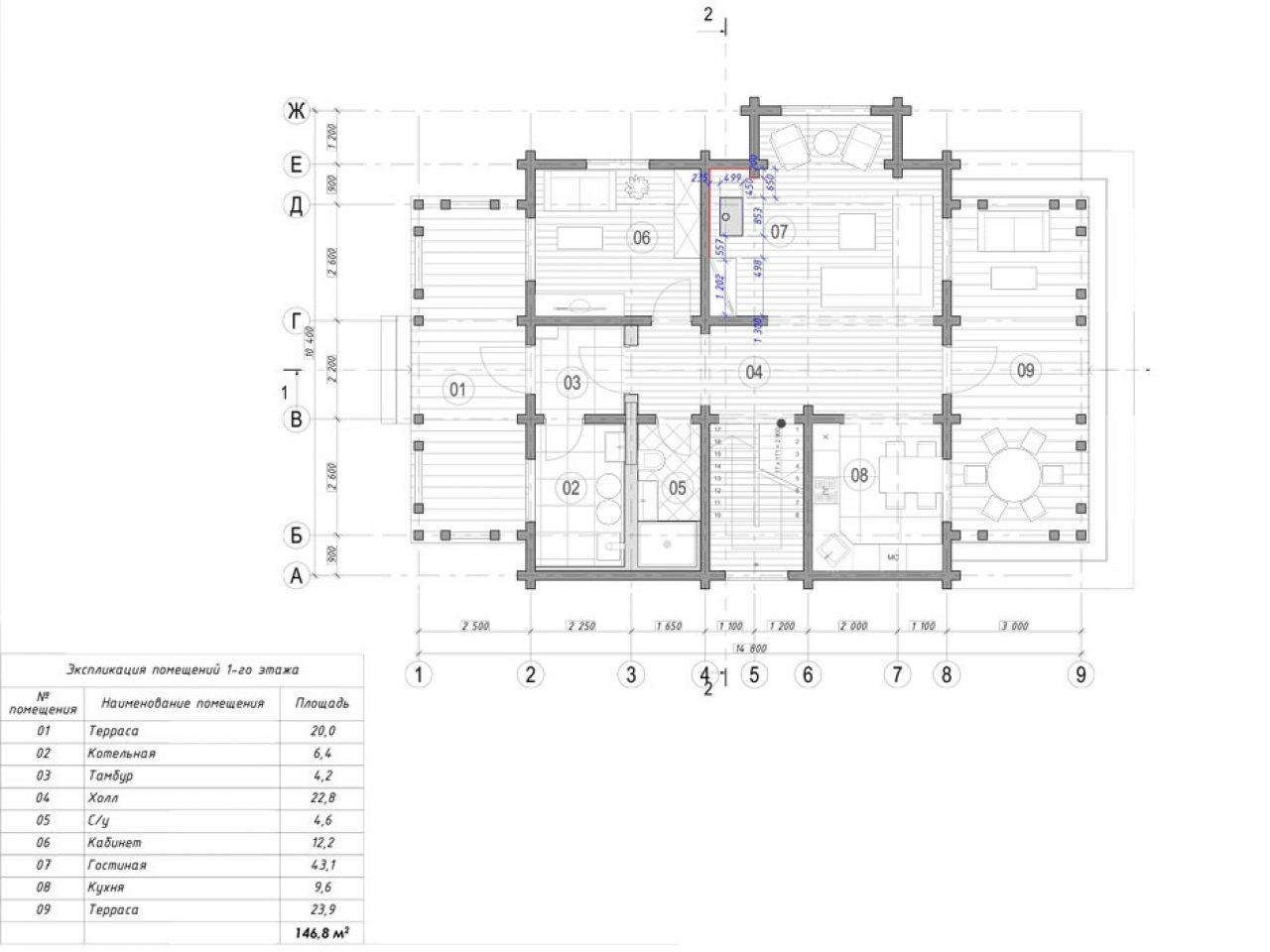 план 1 этажа проект