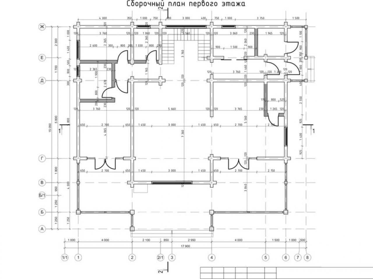 план 1 этажа Лес и река