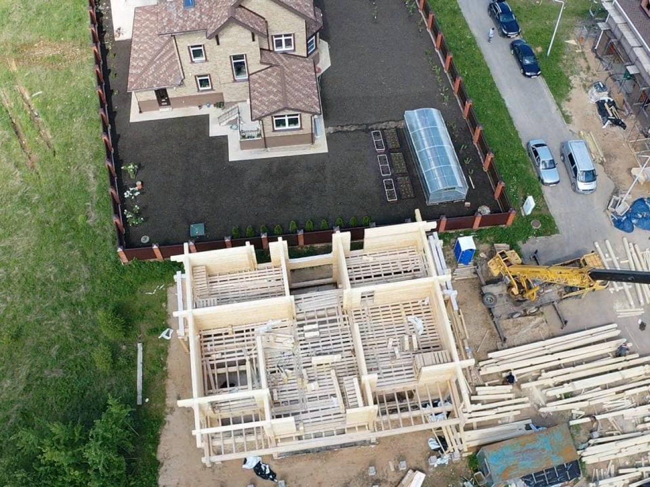 строительство дома Лес и река
