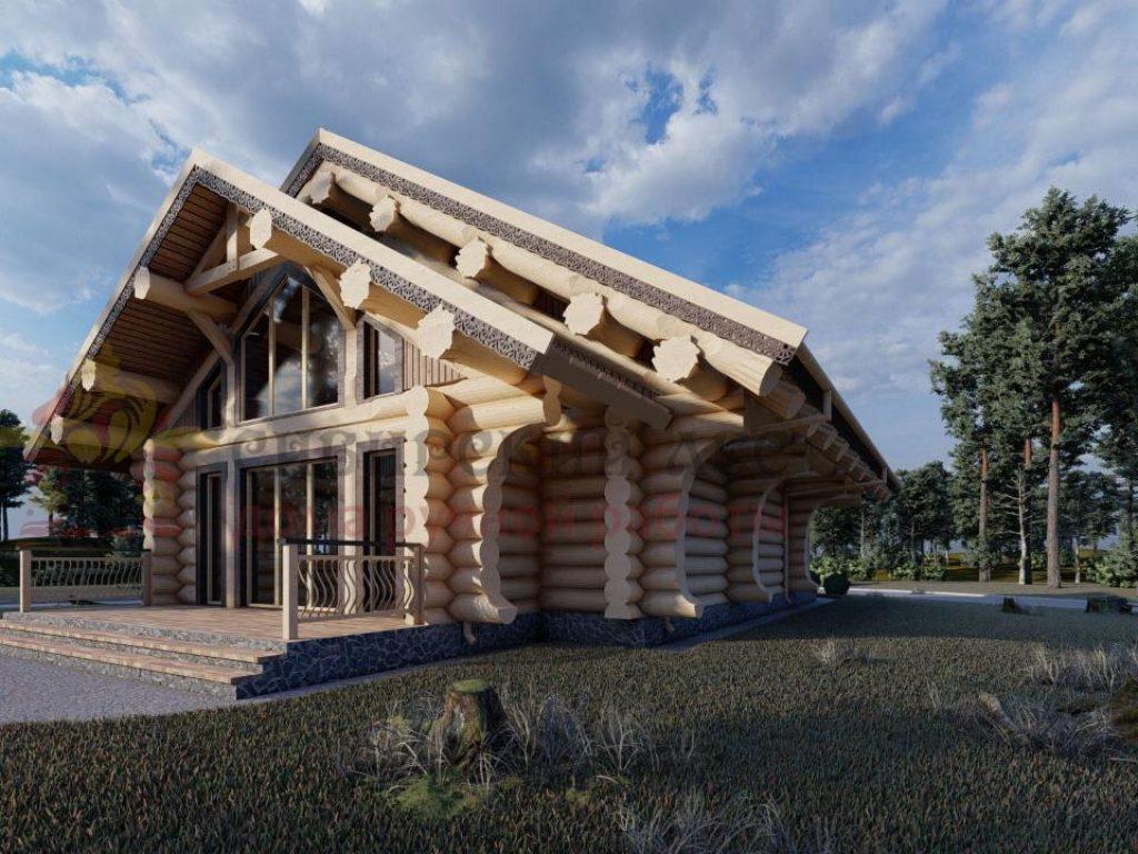 дом из рубленого бревна проект Австрия